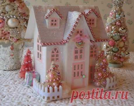 Рождественский домик из картона своими руками: 25 идей