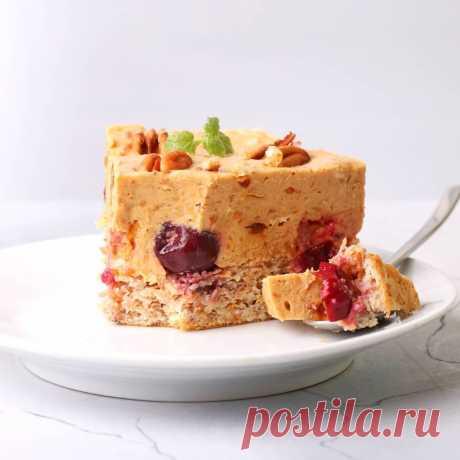 Морковный торт с вишней и суфле из кураги | kiwihealthy | Яндекс Дзен