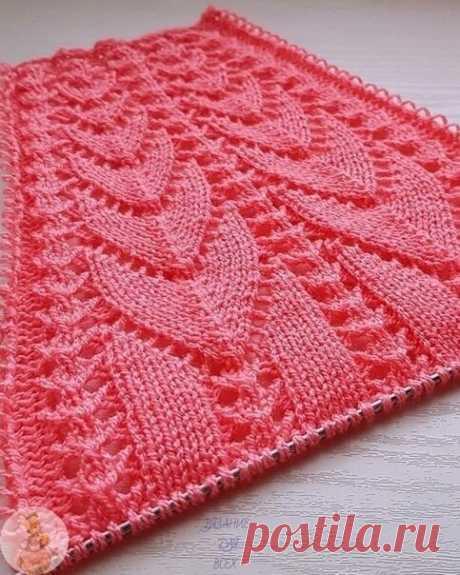 Классный узор спицами  Ещё больше схем и интересных моделей на сайте красивое-вязание.рф
