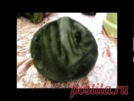Перетяжка меховой шапки на берет