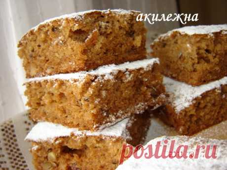 Пирог Яблочно-ореховый