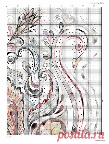 Стилизованный лебедь: вышивка — Сделай сам, идеи для творчества - DIY Ideas