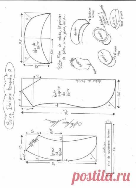 Cap pattern (Sewing and cut) | Inspiration of the Needlewoman Magazine