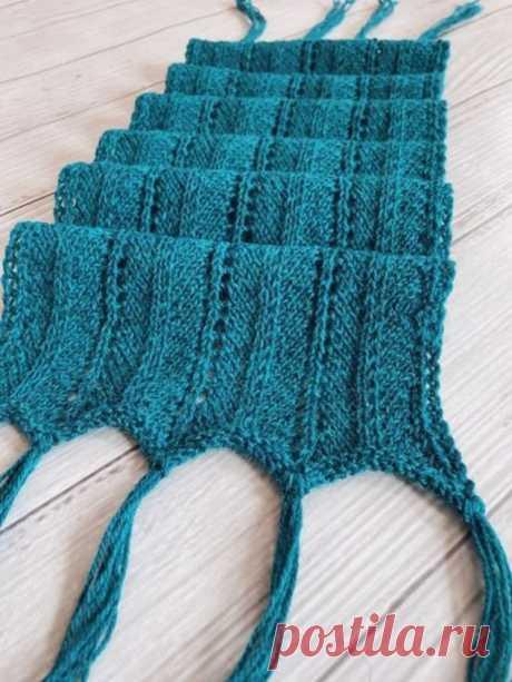 Очень подробный МК ажурного шарфа с кистями (Вязание спицами) – Журнал Вдохновение Рукодельницы