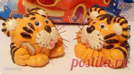 Тигрята из соленого теста