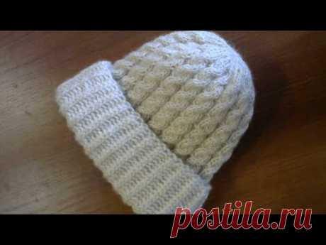 Как связать простую шапочку спицами. #мастеркласс #красивыйузор #вязание #knitting #лучшее #мк - YouTube