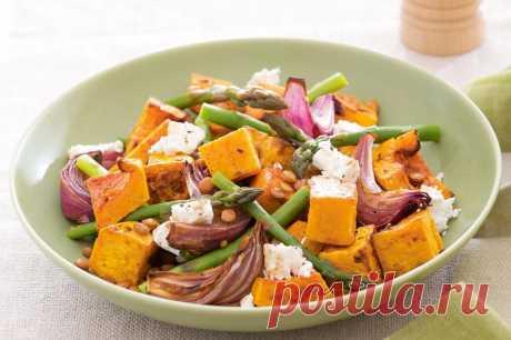 Салат из тыквы и лука | О вкусной еде