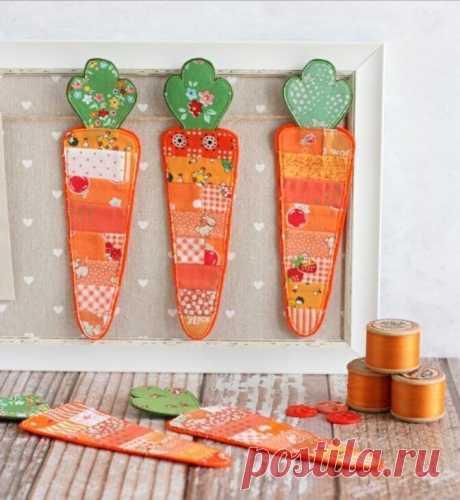 Морковный пэчворк! Вдохновляемся и шьем!