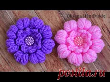 Цветы крючком. Мастер класс. Flowers crochet. Pattern.