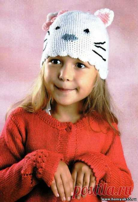 Детская шапка крючком схема и описание » Страница 4