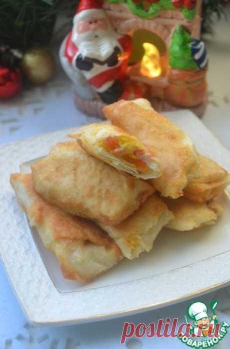 Закусочные трубочки из лаваша - кулинарный рецепт