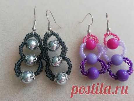 Серьги из бусин 8 мм-Cercei din perle de 8 mm
