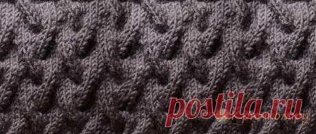 Объемный узор спицами для шапки Мастер-класс по вязанию объемного узора спицами для шапок и снудов