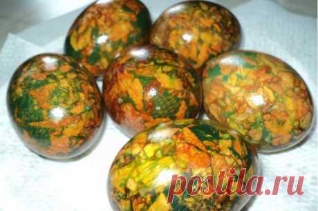 Мраморные яйца на Пасху - пошаговый рецепт с фото на Повар.ру