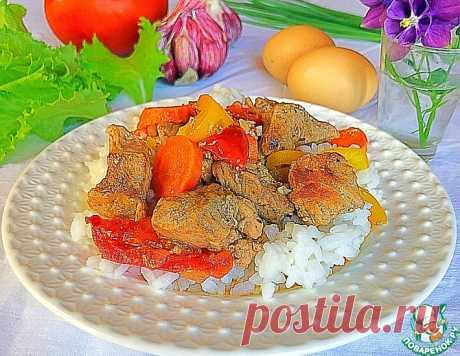 Свинина томленая с овощами – кулинарный рецепт