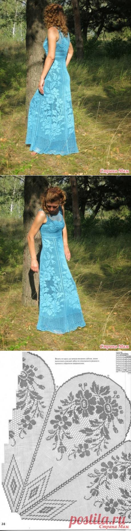 """Выхожу из """"подполья"""")))Мое платье в пол филейкой."""