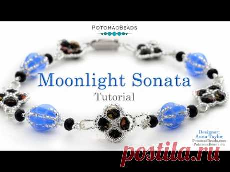 Moonlight Sonata - DIY Jewelry Making Tutorial by PotomacBeads