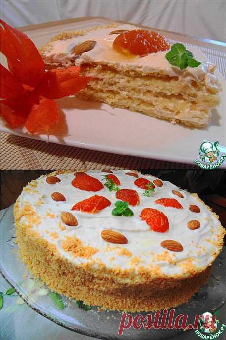 """Торт """"Краковский"""" Очень вкусный ароматный торт польской кухни. Великолепное сочетание тонкого песочного коржа с миндальной крошкой и нежной абрикосовой меренгой… Готовят его, как правило на Рождество. Торт должен созреть в течении 3-4 дней. Как говорят поляки: """"Торт должен стать хрупким, как счастье» Автор: Glaros"""