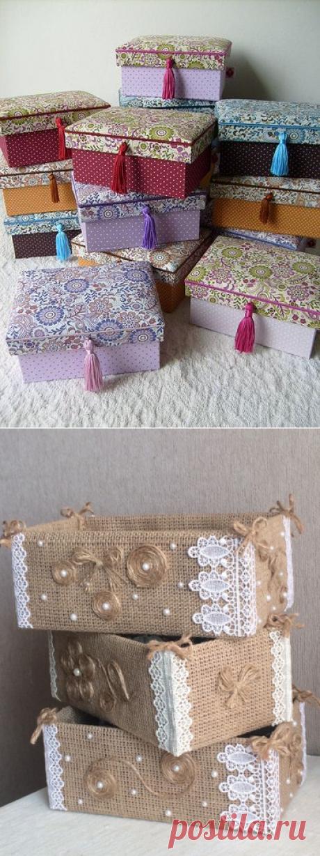 Декоративные ящики для хранения мелочей: изготавливаем собственноручно!   Идеи для вдохновения