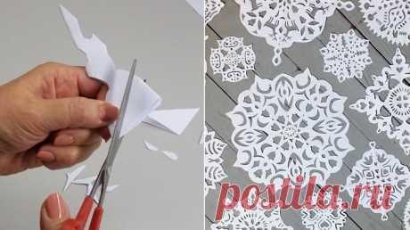 Трафареты для вырезания: невероятно красивые снежинки из бумаги. Создай дома сказку!