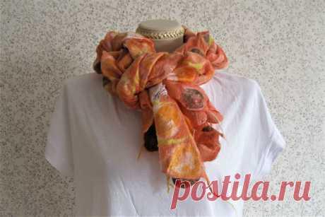 Как красиво завязать шарф платок, палантин. Быстрые и оригинальные способы для легкого большого шарфа | Журнал Ярмарки Мастеров
