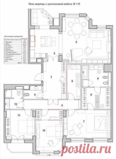 Английский стиль в квартире 175 кв.м