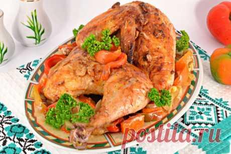 Курица запеченная с овощами — ХОЗЯЮШКА