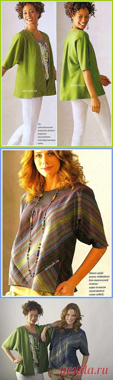 Блуза или жакет из квадратов (Diy) / Простые выкройки / Модный сайт о стильной переделке одежды и интерьера