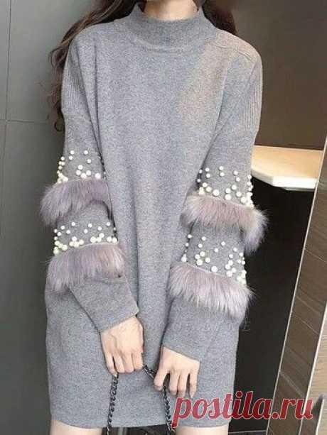 Свитер с декором Модная одежда и дизайн интерьера своими руками