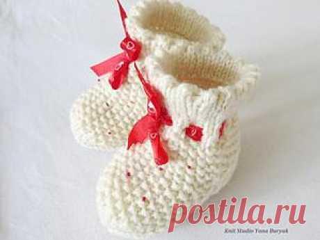 Вяжем носочки для новорожденного - Ярмарка Мастеров - ручная работа, handmade