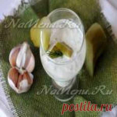 La receta de la salsa blanca con el pepino
