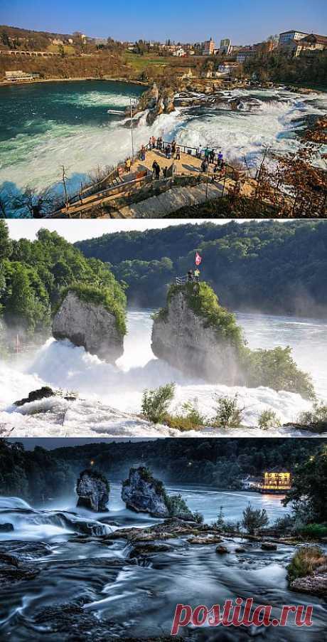 Рейнский водопад в Швейцарии — завораживающая мощь воды - Nice-Places.com: Статья; Фото (10); Видео; Карты