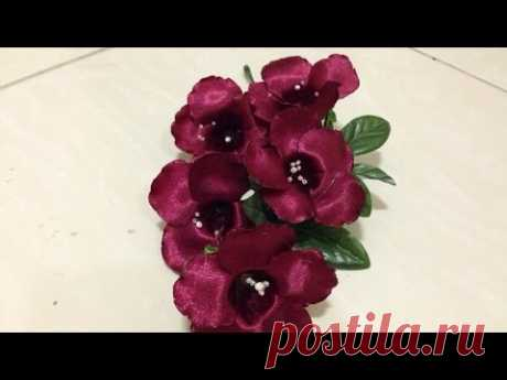How To Create a Satin Ribbon Rhododendron Flower - DIY Crafts Tutorial - Guidecentral