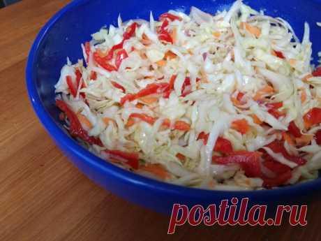 Зимний салат с капустой-5 минут и готово | Anna CooLinari | Яндекс Дзен