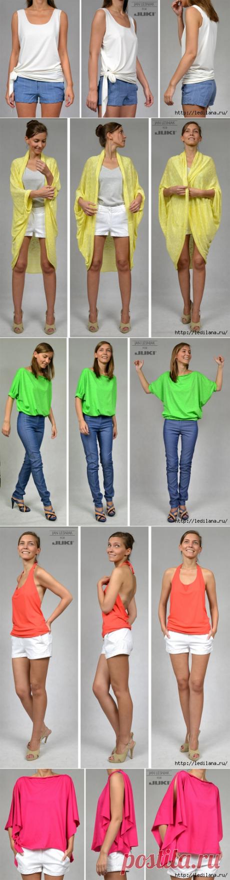 5 простых в пошиве трикотажных блуз можно сшить даже без машинки
