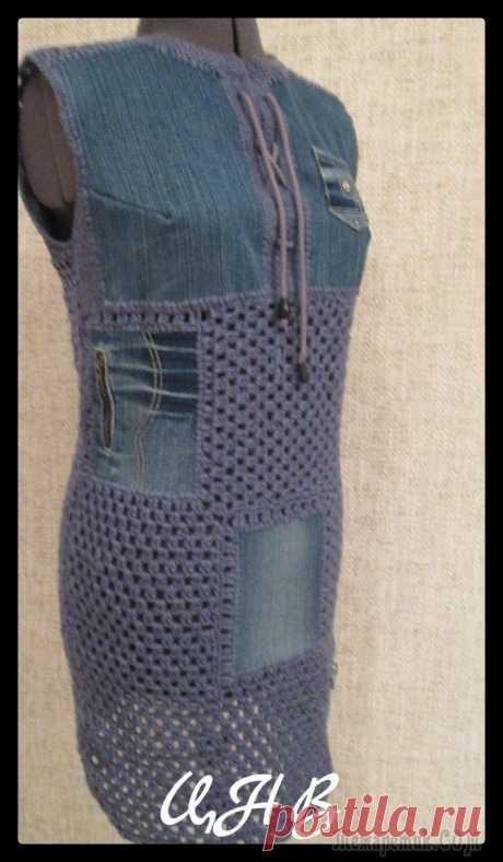 Старым джинсам новую жизнь,идеи переделок.