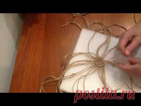 (2) Плетение салфеточки по кругу. Шаг 5 - YouTube
