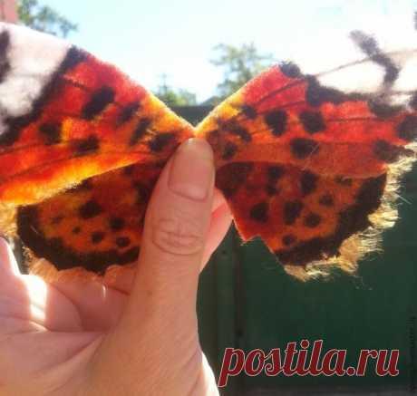 Как сделать бабочке крыло из клеенного фетра. МК Ольги Пирог
