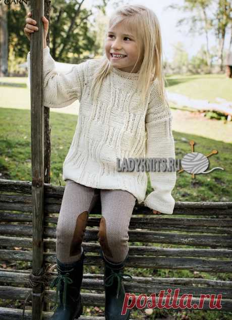 Elegant jumper spokes for the girl from 2 to 14 years, the description: