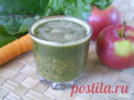 Зеленый коктейль с морковью - пошаговый рецепт с фото на Повар.ру