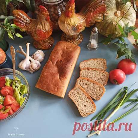 Домашний серый хлеб. Простой рецепт.   Рецепты и советы - Мария Сурова   Яндекс Дзен