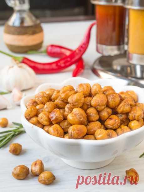 Рецепт хрустящего печеного нута на Вкусном Блоге