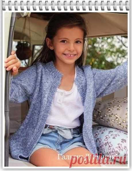 ГАЛКИН ДНЕВНИК : Вязание спицами жакета для девочки
