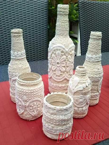 Декор бутылок своими руками: 90 идей создания украшений для дома