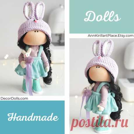 Bunny Doll Handmade Tilda Art Doll Cloth Fabric Doll | Etsy
