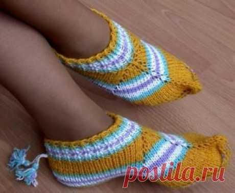 Носочки-тапочки — Сделай сам, идеи для творчества - DIY Ideas