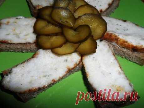 sandwich-type namazka from fat with seasonings   Homemade food