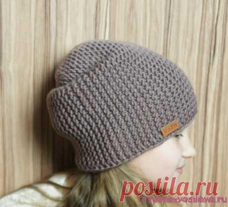Вязаная шапка бини с описанием | Блог Васильевой Татьяны