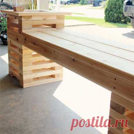 Скамейки для отдыха на даче, крепкие и удобные — 6 соток