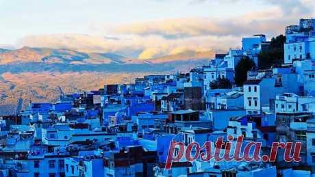 Город Шефшауэн. Марокко.